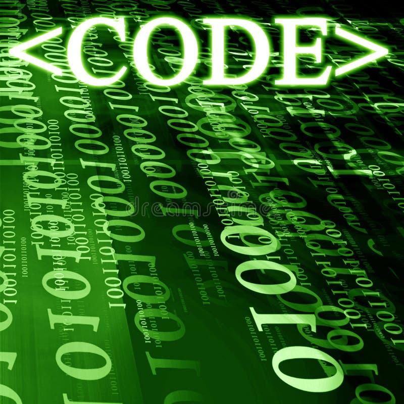 Código ilustração stock