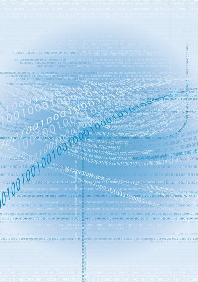 Código binário 1 fotografia de stock