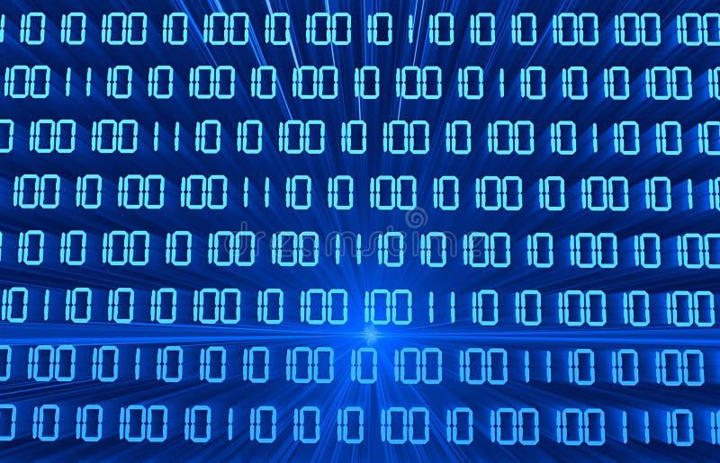 Código binário ilustração stock