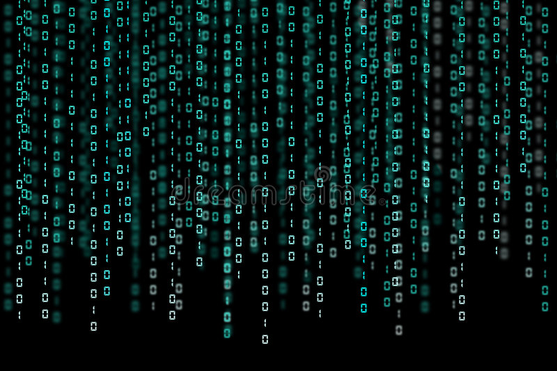 Código binário ilustração do vetor