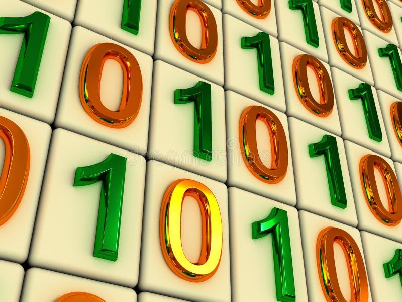 Código binário. fotografia de stock royalty free