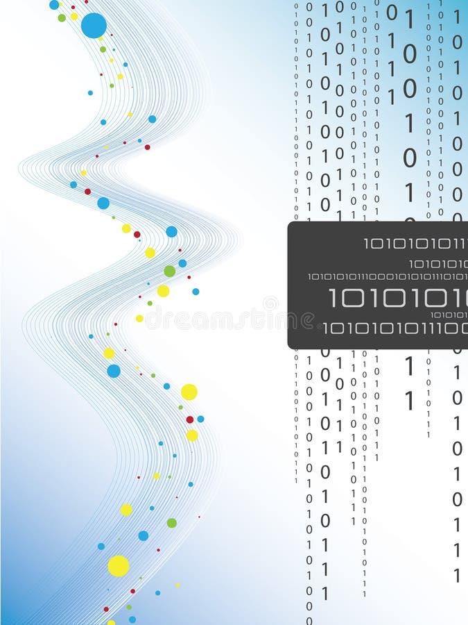 Código binário ilustração royalty free