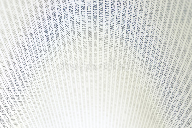 Código binário abstrato, horizontal foto de stock