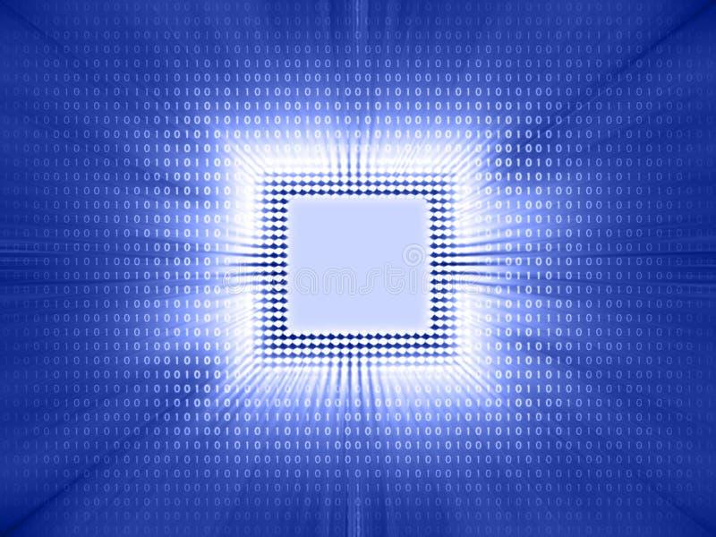 Código binário da microplaqueta ilustração do vetor