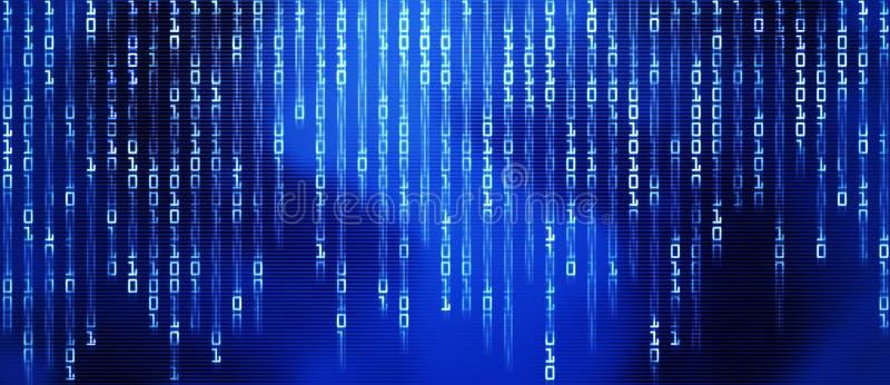 Código binário, vapor dos dados ilustração stock