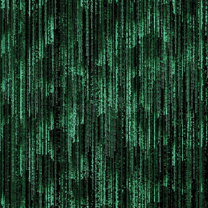 Código binário verde ilustração royalty free