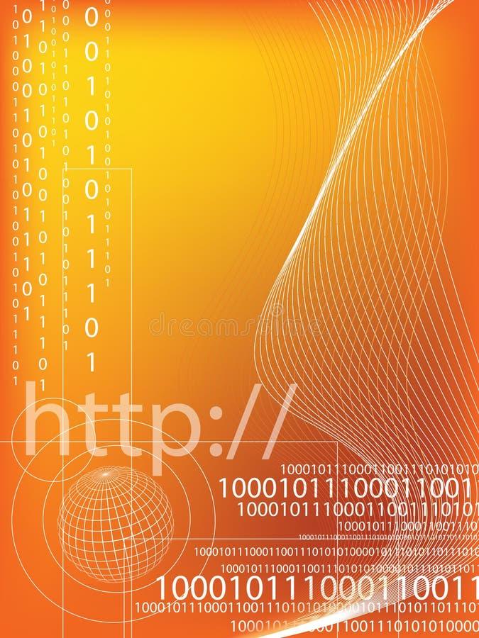 Código binario ilustración del vector