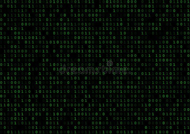 Código binario azul fotos de archivo libres de regalías