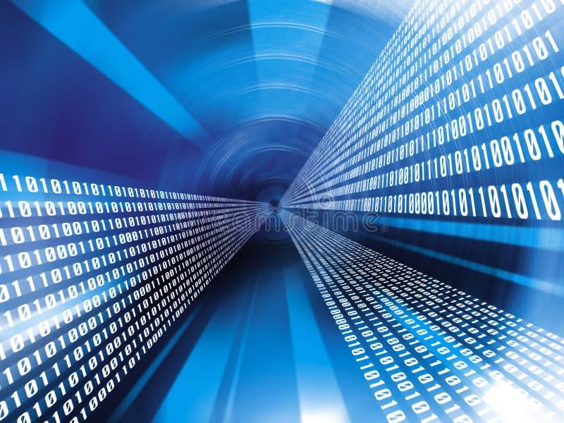 Código binario de los datos stock de ilustración