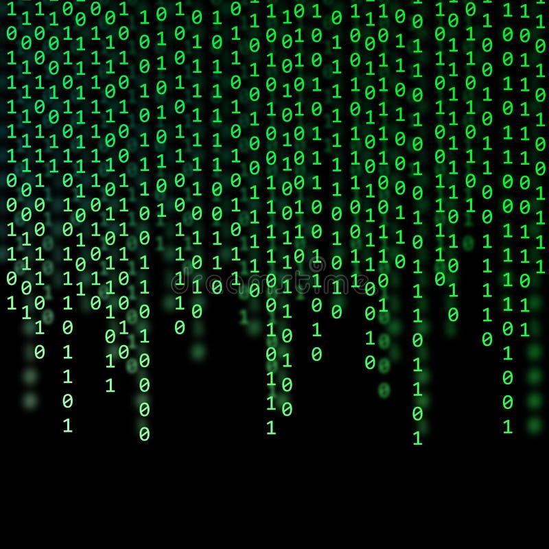Código binario verde abstracto imagen de archivo libre de regalías