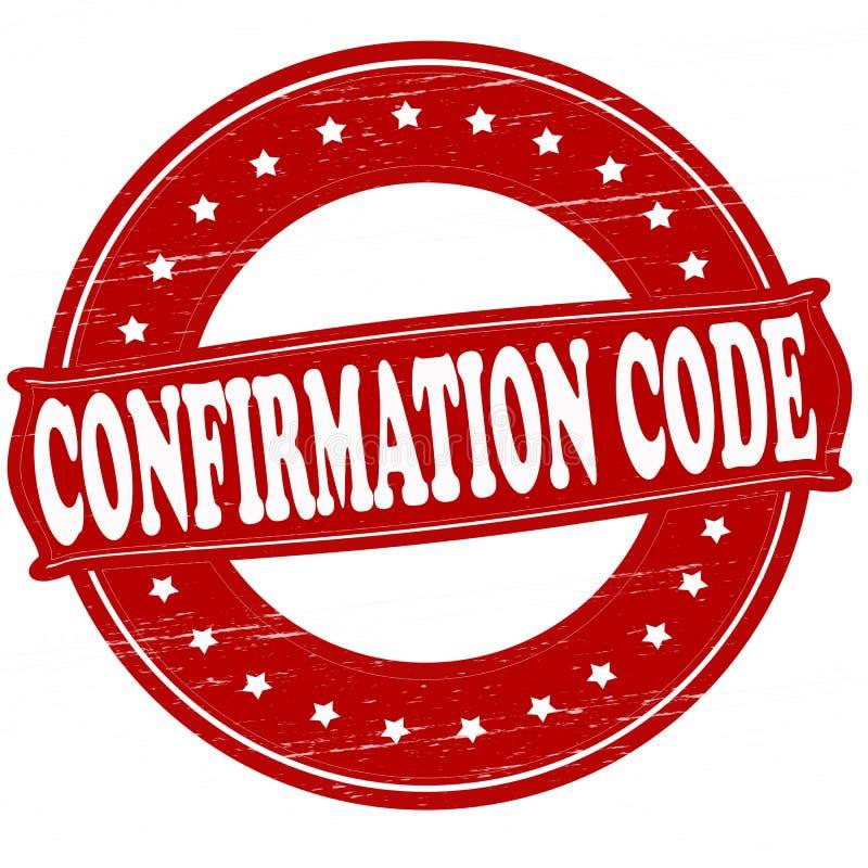 Código da confirmação ilustração stock