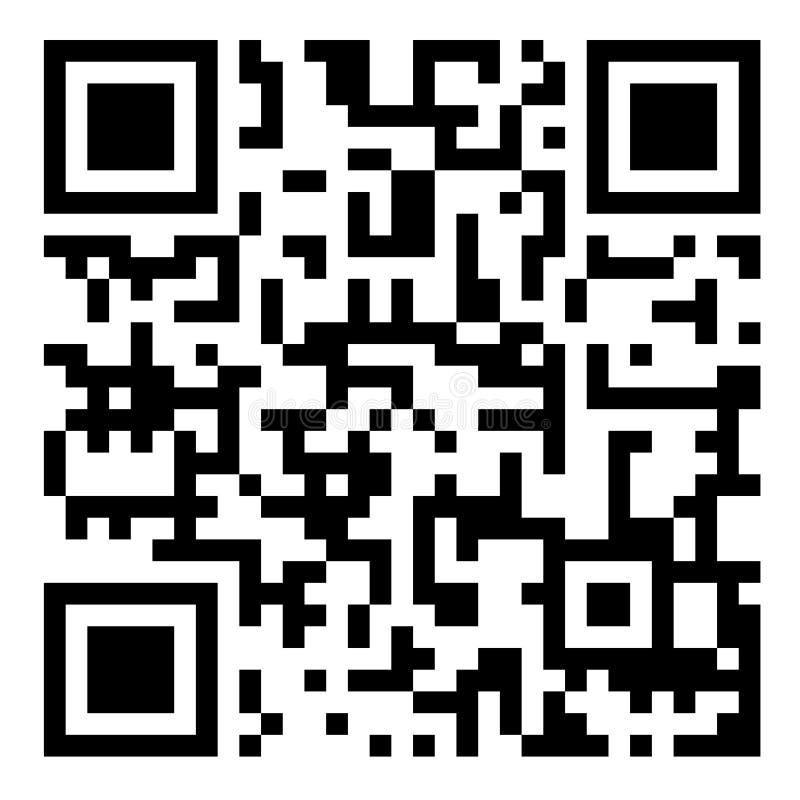 Código de barra de QR ilustração stock
