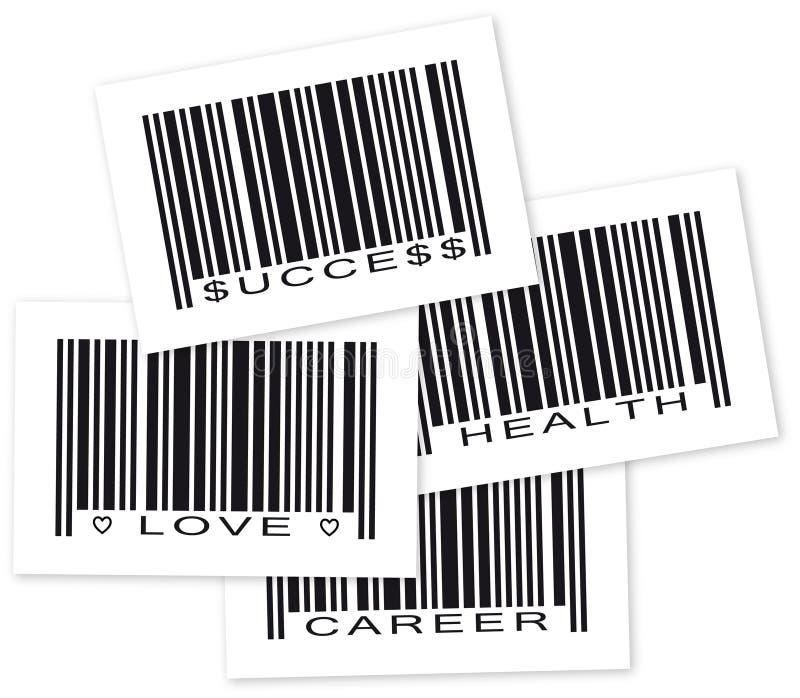 Código de barra do objeto do objetivo da vida ilustração do vetor