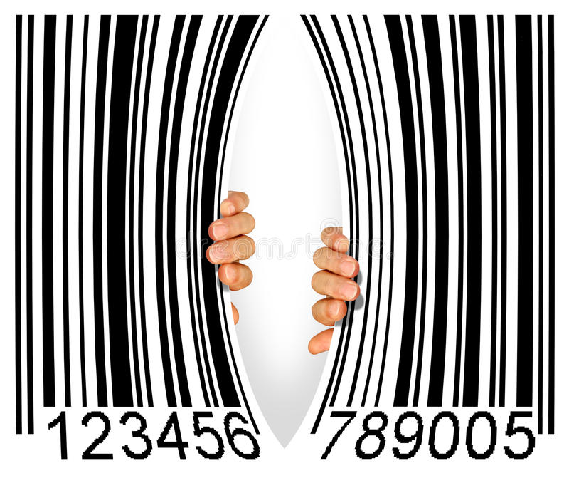 Código de barra rasgado fotos de stock royalty free
