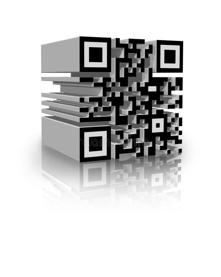 código de barras 3D ilustração royalty free