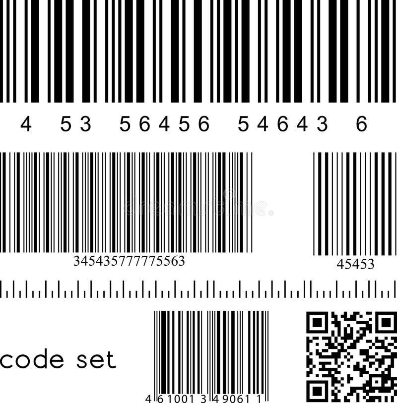 Código de barras ajustado ilustração stock
