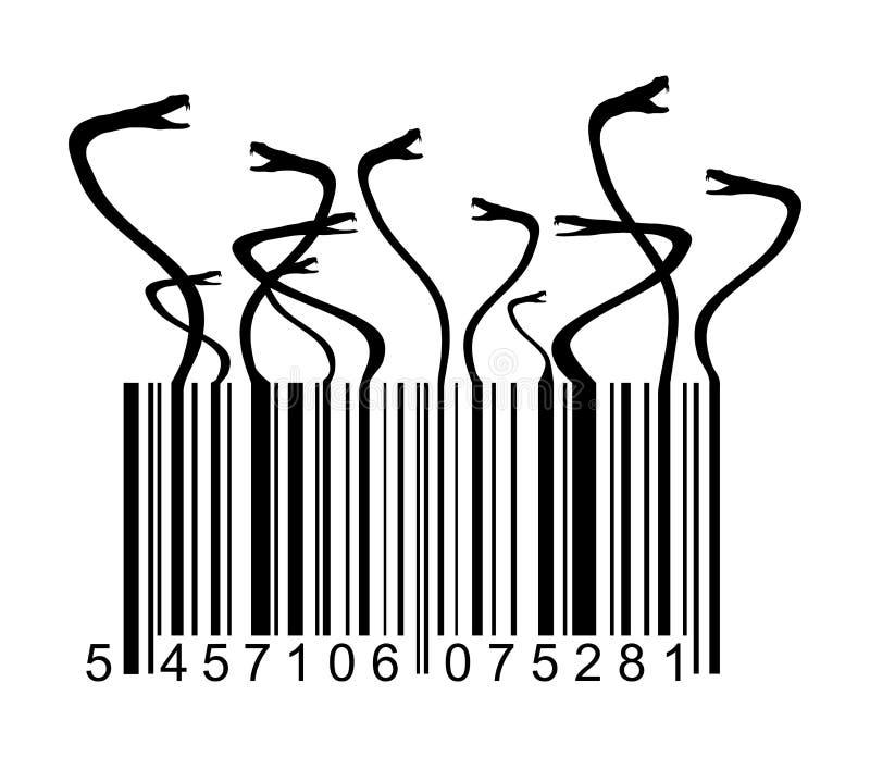 Código de barras com serpente ilustração royalty free