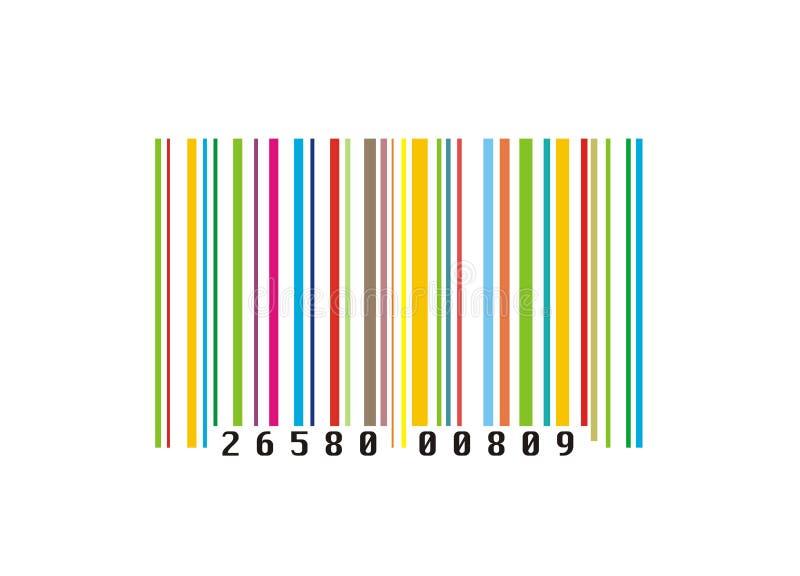 Código de barras creativo colorido ilustração stock