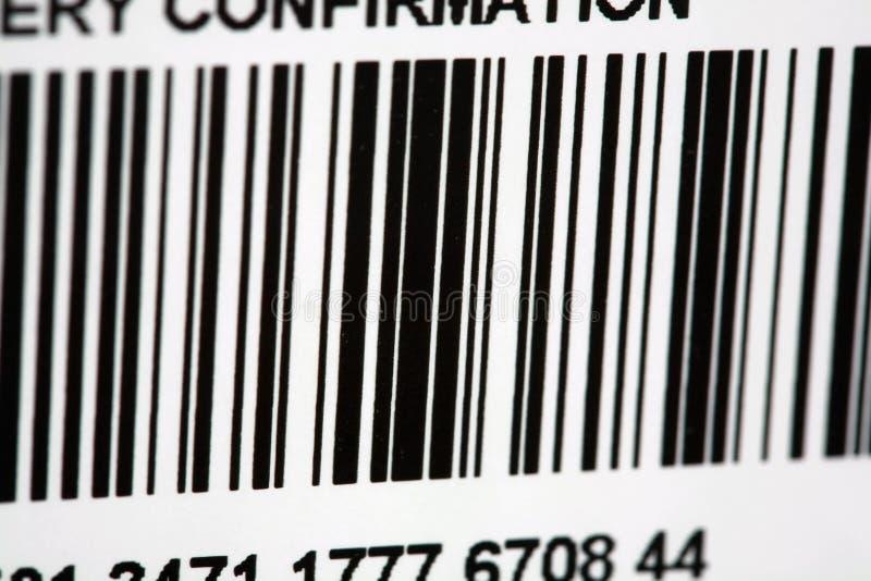 Código de barras da etiqueta de transporte foto de stock