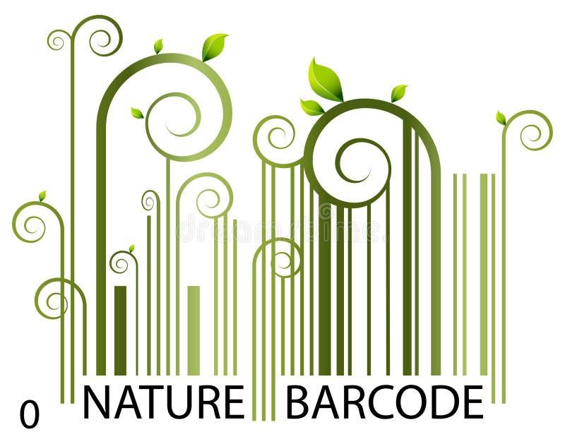 Código de barras da natureza ilustração royalty free
