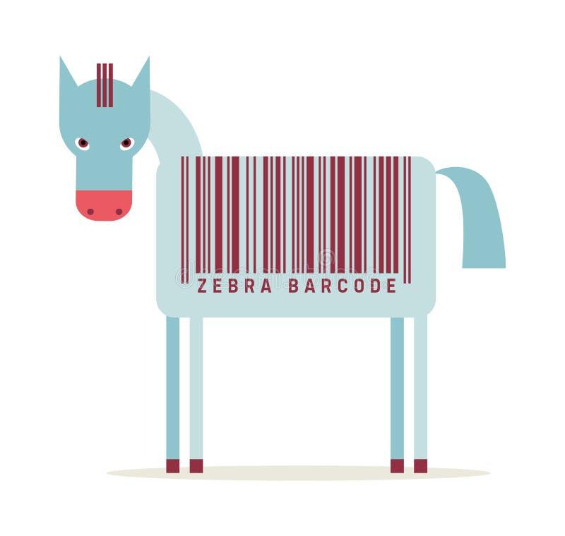 Código de barras da zebra ilustração royalty free