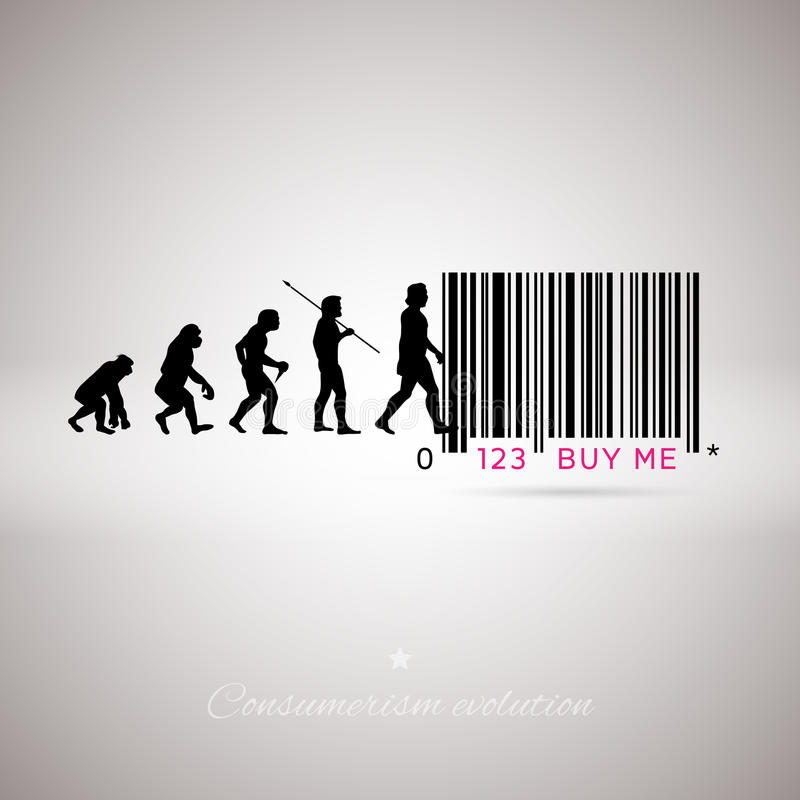Código de barras de la evolución humana libre illustration