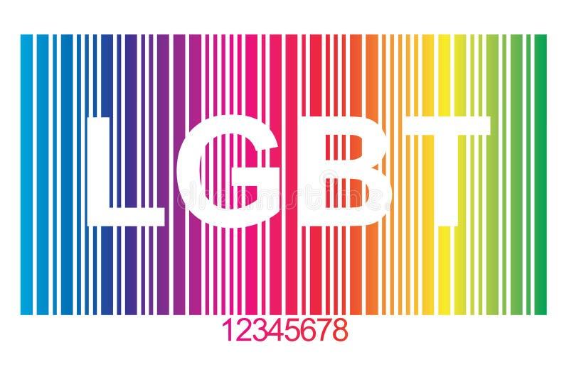 Código de barras de LGBT libre illustration