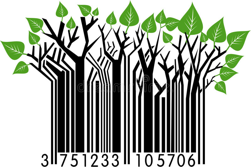 Código de barras del resorte stock de ilustración