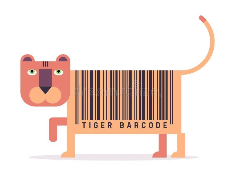 Código de barras do tigre ilustração stock
