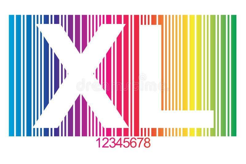 Código de barras do XL ilustração do vetor