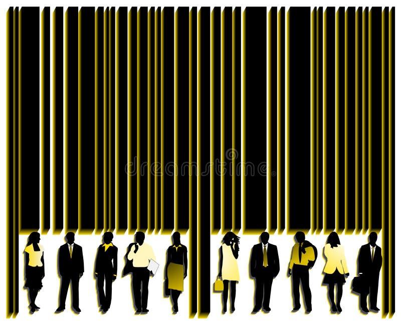 Código de barras e povos ilustração do vetor