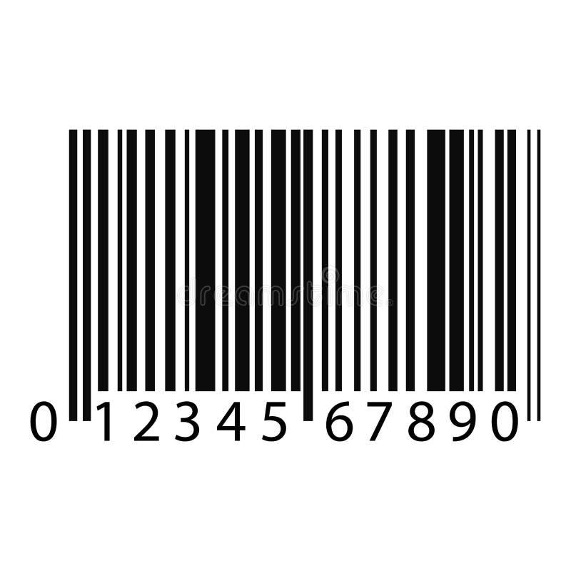 Código de barras - ejemplo del vector - aislado en el fondo blanco ilustración del vector