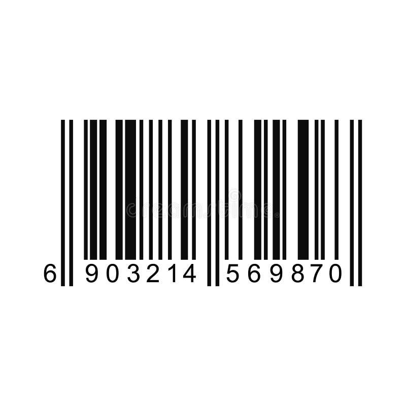 Código de barras o código aislado en un fondo Vector ilustración del vector