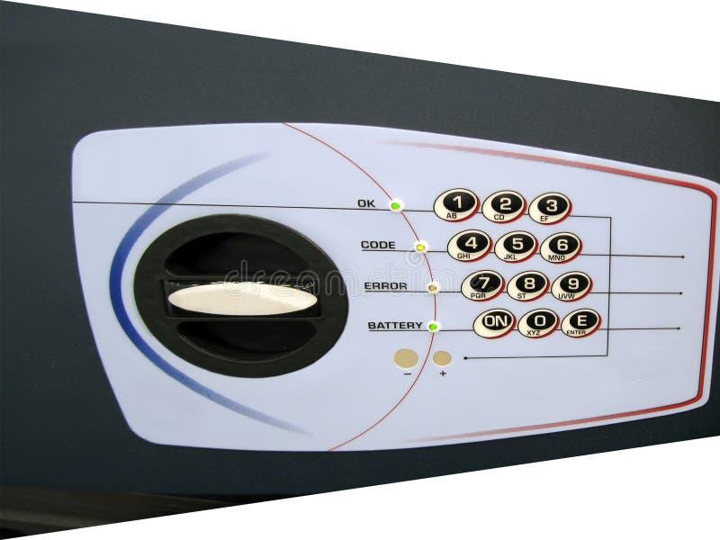 Código de bloqueo dominante seguro, panel de control, ahorros, batería, fotos de archivo