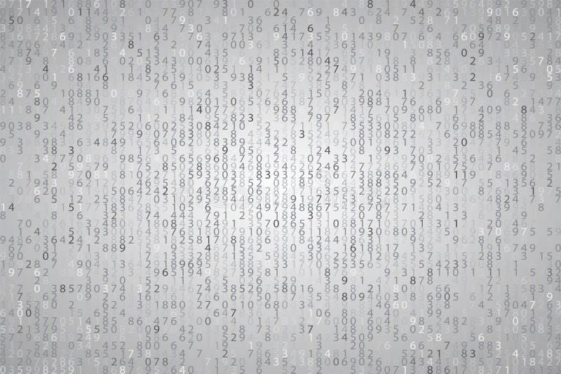 Código de computador binário do elemento azul abstrato do fundo da tecnologia ilustração stock