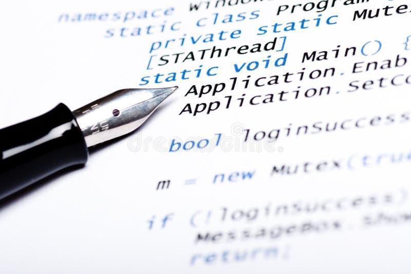 Código de computador Csharp fotos de stock