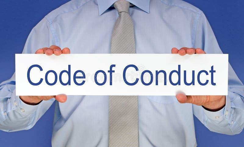Código de conducta imagen de archivo