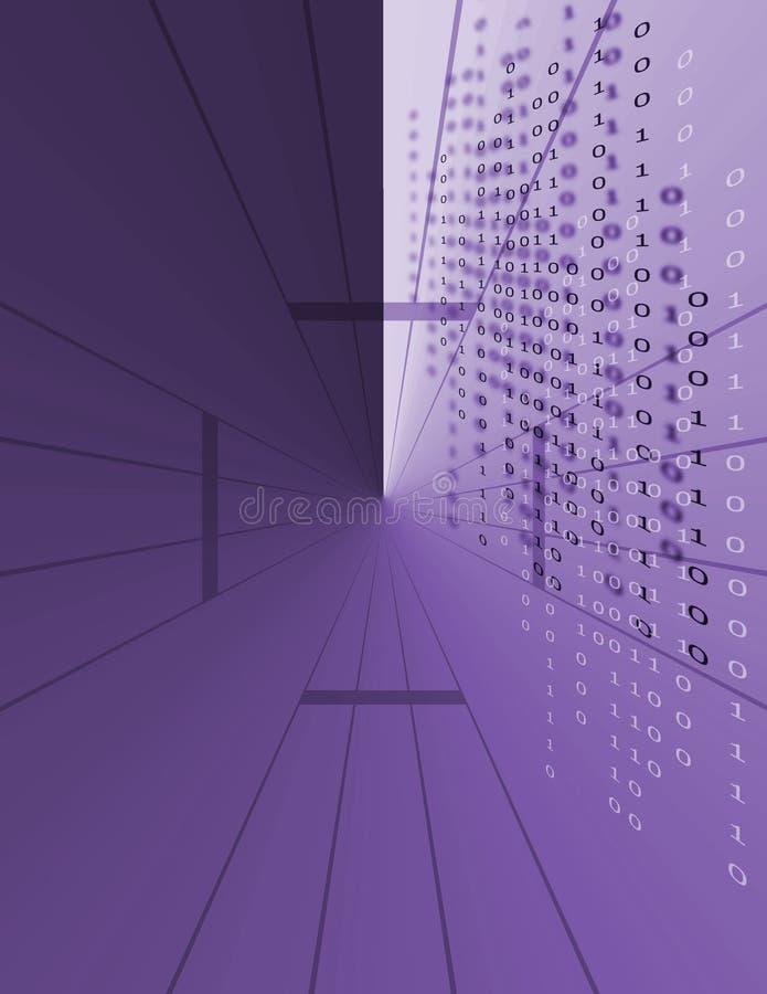 Código de dados binários ilustração do vetor