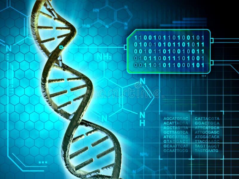 Código de la DNA stock de ilustración