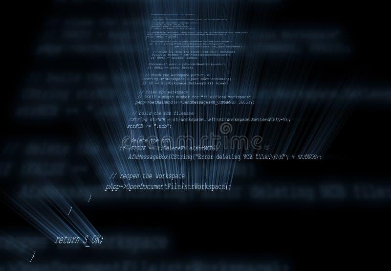 Código de programação ilustração stock