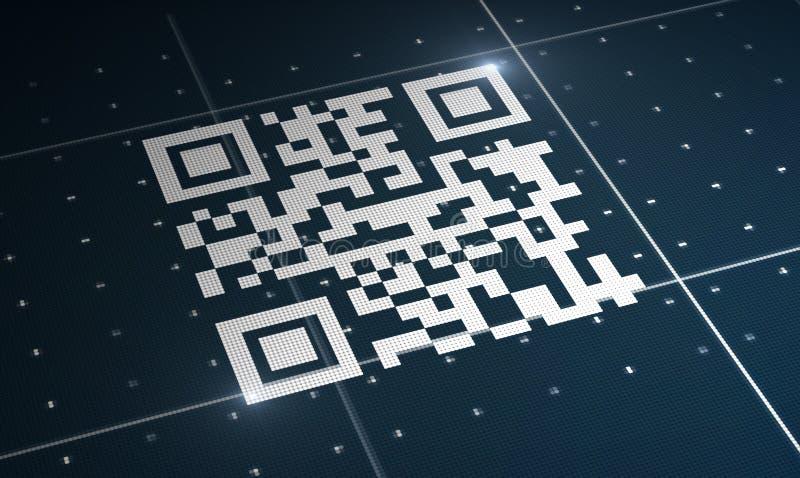 Código de Qr ilustración del vector