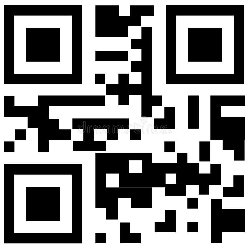 Código de Qr para o telefone esperto ilustração do vetor