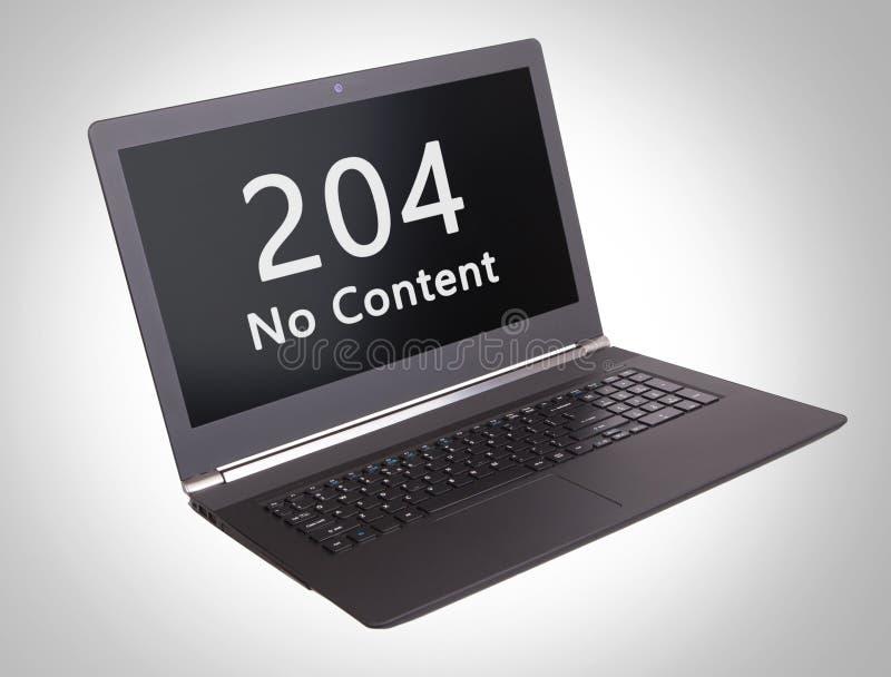 Código de status do HTTP - 204, nenhum índice imagens de stock