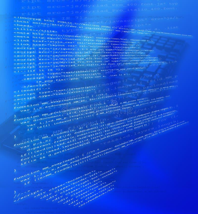 Código del HTML ilustración del vector