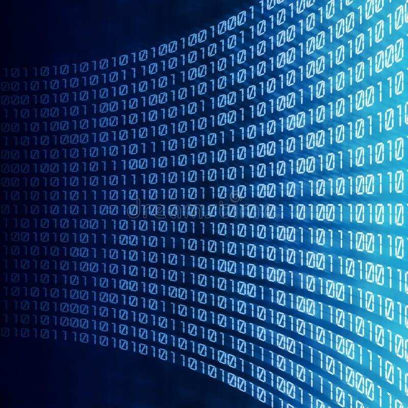 Código digital binário abstrato ilustração do vetor