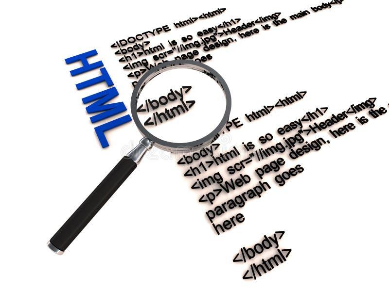 Código do HTML ilustração royalty free