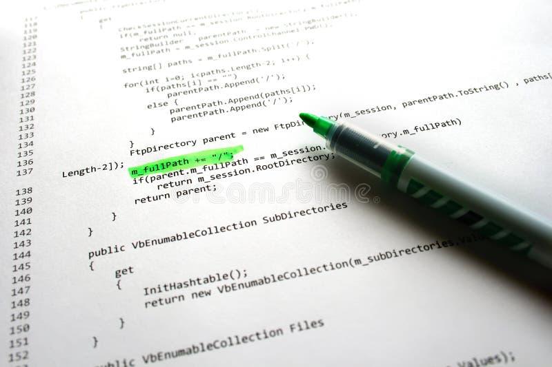 Código do programa de software