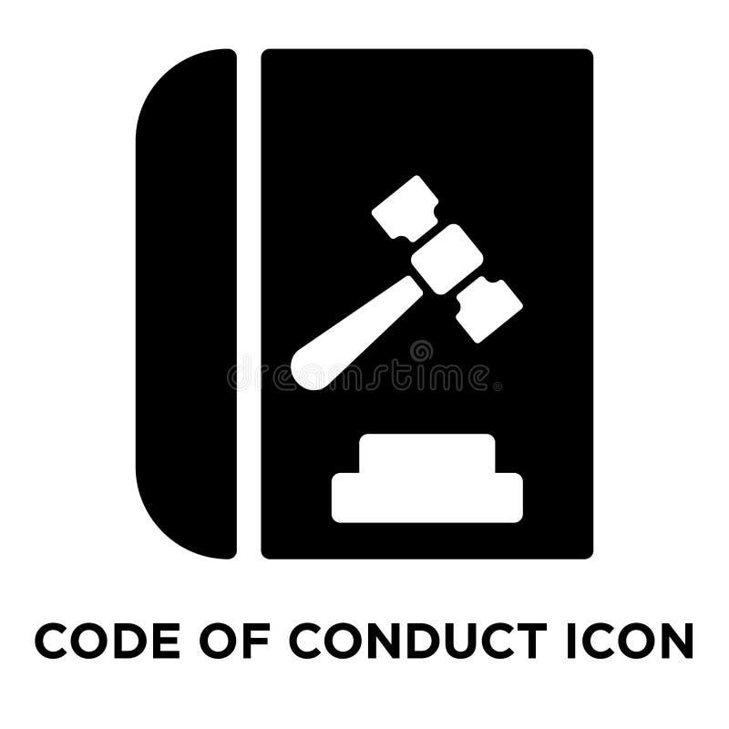 Código do vetor do ícone da conduta isolado no fundo branco, logotipo c ilustração royalty free