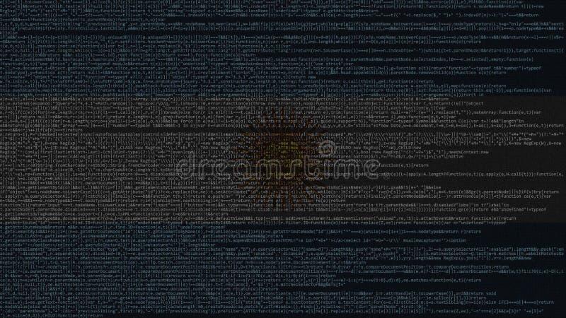 Código fonte e bandeira de Argentina Tecnologia digital argentina ou rendição 3D relacionada de programação ilustração stock