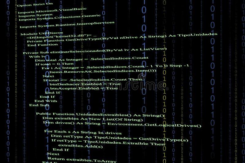 Código fuente stock de ilustración